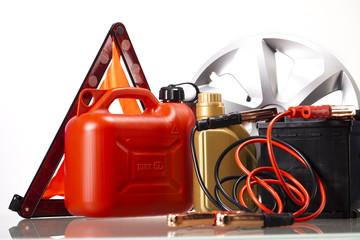 Set of auto parts, car battery