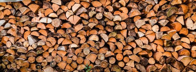 Holzvorrat für den Winter