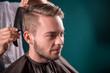 Leinwanddruck Bild - professional  hairdressing salon