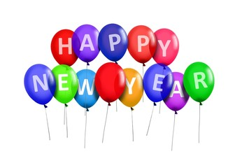 Happy New Year Party Balloons