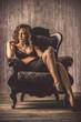 Leinwanddruck Bild - elegance woman