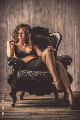 Leinwanddruck Bild elegance woman