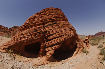 Sandstone Beehives, in Valley of Fire state park,Nevada,USA