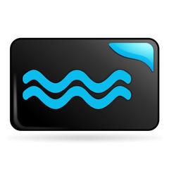 inondation sur bouton web rectangle bleu