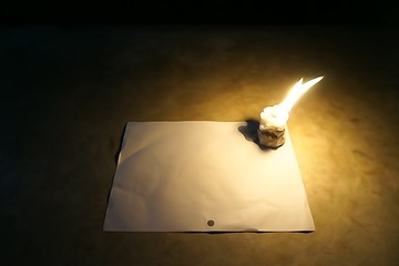 candle art on the white paper 1