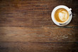 latte coffee on wood with space. - 72647032