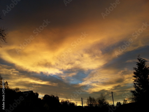 canvas print picture Morgensonne im Herbst