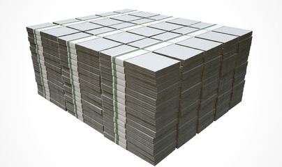 Pile Generic Blank Bank Notes