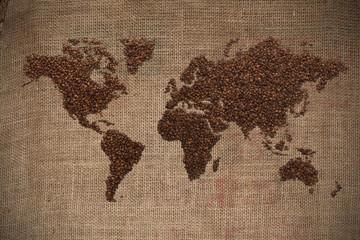 Coffee world map