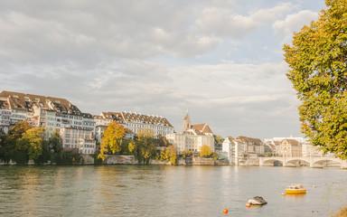 Basel, Altstadt, Rhein, Rheinbrücke, Kleinbasel, Herbst, Schweiz
