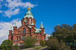 canvas print picture - Uspenski Kathedrale Helsinki