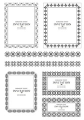 Collection of ornate vector frames