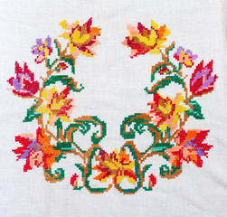 embroidered cross-stitch pattern