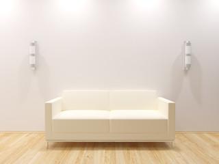 Sofa Couch auf Parkett