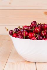 bowl of ripe cherries