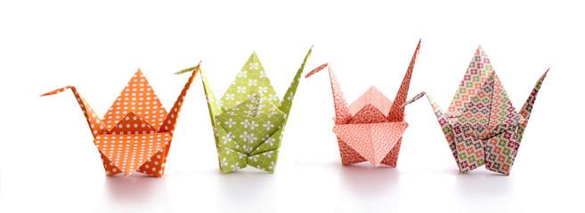 Origamis alignés