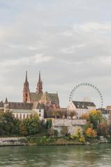 Basel, Stadt, Münster, historische Altstadthäuser, Schweiz