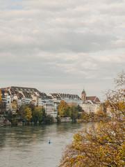 Basel, Altstadt, Martinskirche, Rhein, Herbst, Schweiz