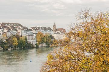 Basel, Altstadt, historische Altstadthäuser, Rhein, Schweiz