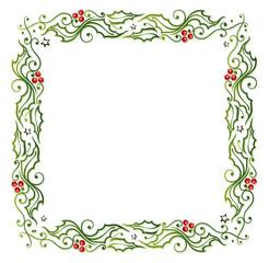 Weihnachten, Rahmen, Stechpalme, Ilix