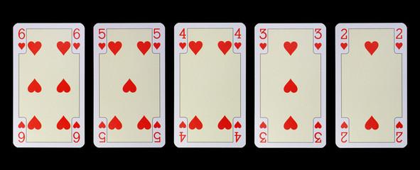 Spielkarten der Ladys - HERZ und die Untertanen