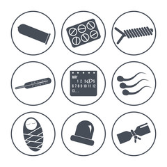 Icons methods of contraception