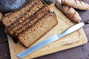 black breadsliced bread