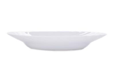 White plate.