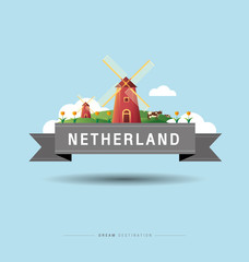 Amsterdam, windmill, Netherlands, travel, Landmark