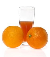glass of splashing orange juic