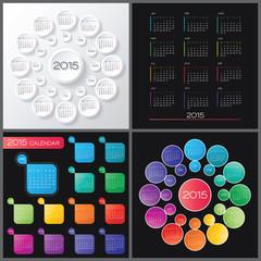Calendar 2015 vector desing cllection