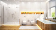 Modern white bathroom - 72654697