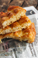 Filo pie with eggs and cheese /Banitsa/