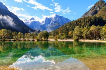 Beautiful Jasna lake at Kranjska Gora in Slovenia