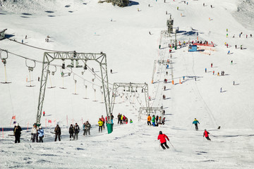 Kitzsteinhorn ski region in Austria
