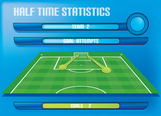 info graphics scored goals statistics for football soccer