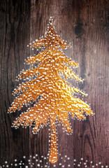 goldener Tannenbaum