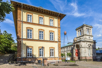 old town of Baden-Baden Germany with view to historic museum wit
