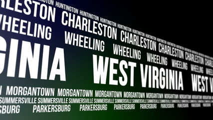 West Virginia State and Major Cities Scrolling Banner