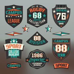 Rugby emblem college team