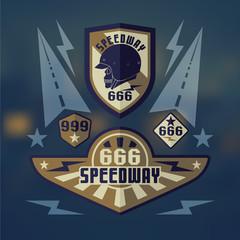 Speedwey 666  retro emblems