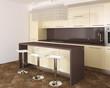 canvas print picture - Modern kitchen