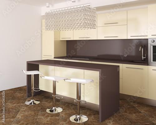 canvas print picture Modern kitchen