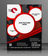 business flyer template or corporate banner design