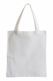 white fabric bag isolated on white with clipping path - 72658654