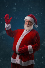 Santa Claus with big belly