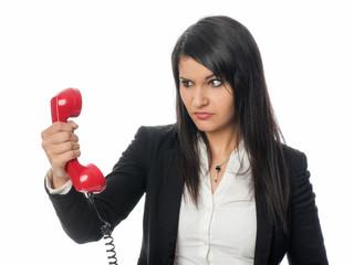 Wütend am Telefon