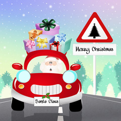 car of Santa Claus