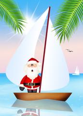 Santa Claus on boat