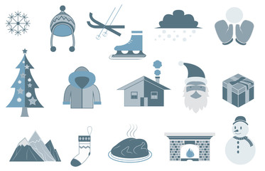 Winter and Merry Christmas Vectors and Icons